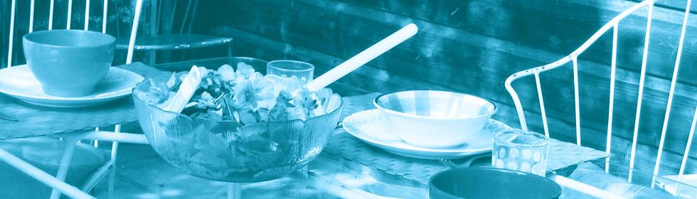 Tintenblaue Kostproben